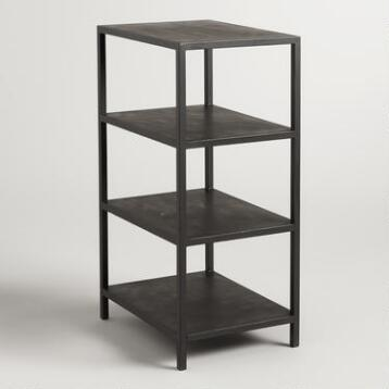 Black 3 Shelf Craft Height Colton Mix & Match Desk Base
