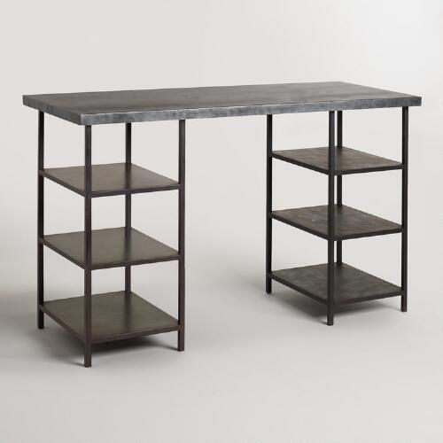 Metal Top and Craft Height Shelf Colton Mix & Match Desk