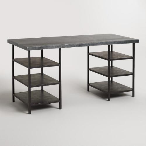 Metal Top and Metal Shelf Colton Mix & Match Desk