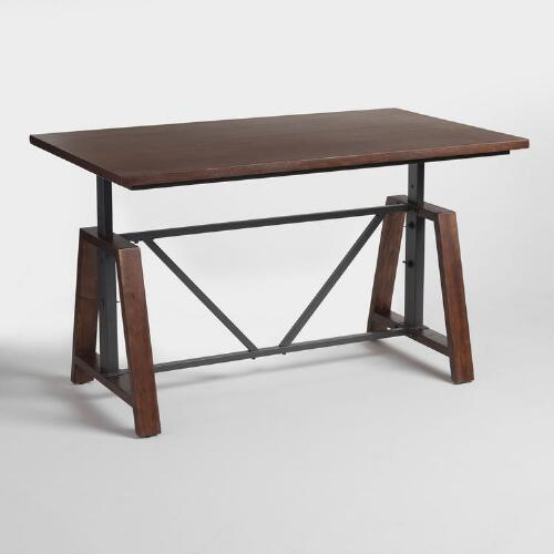 Counter Height Work Table : ... Furniture > Office Desks > Wood Braylen Adjustable Height Work Table