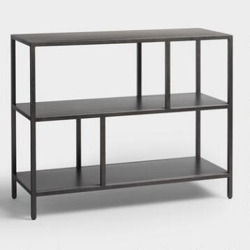 Gunmetal Holden Open 2 Shelf Bookcase