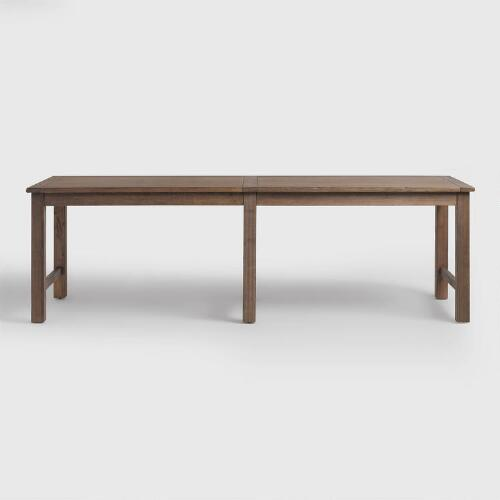 Distressed Brown Wood Gulianna Extra Long Dining Table