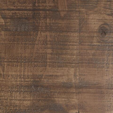 Distressed Brown Wood Gulianna Extra Long Dining Bench