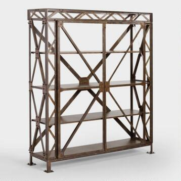 Rustic Metal Bryson Truss Shelf