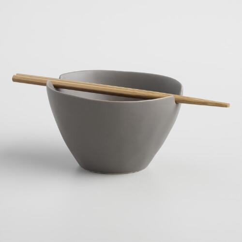 Charcoal Element Noodle Bowl & Chopsticks Set