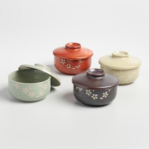 Fuji Covered Rice Bowls Set of 4