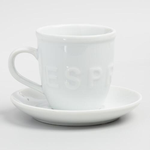 Espresso Cup and Saucer Set of 6