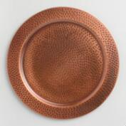 Round Hammered Copper Chargers Set of 4