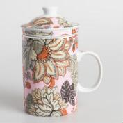 Aerin Floral Porcelain Infuser Mugs Set of 2