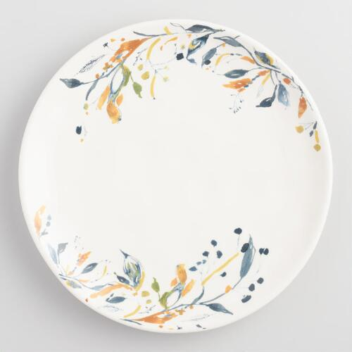 Flora Klara Earthenware Salad Plates Set of 4