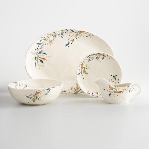 Floral Klara Earthenware Dinnerware Collection
