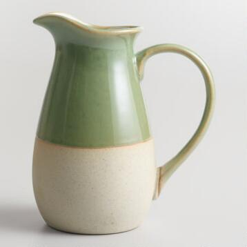Glazed Ceramic 20 Ounce Pitcher