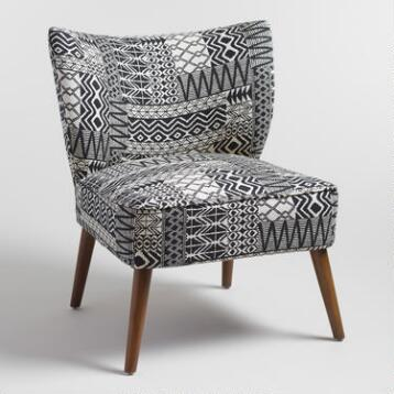 Tribal Jacquard Delani Upholstered Accent Chair