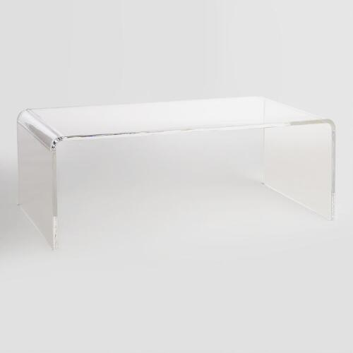 Clear Acrylic Thad Coffee Table