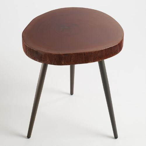 Wood Slice Accent Table World Market