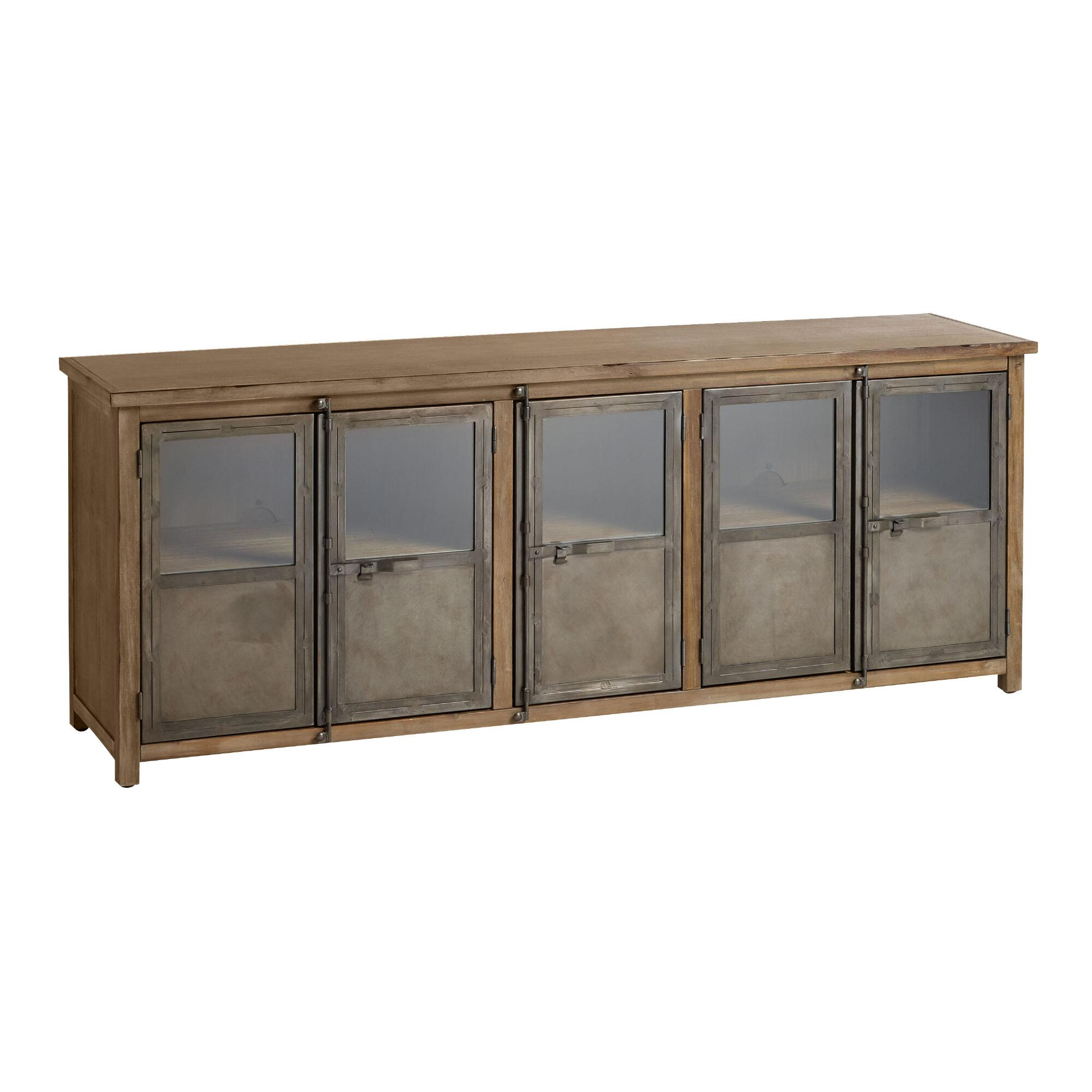 Large wood and metal langley storage cabinet world market