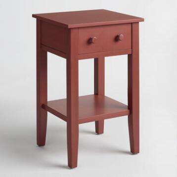 Red Wood Sara Nightstand
