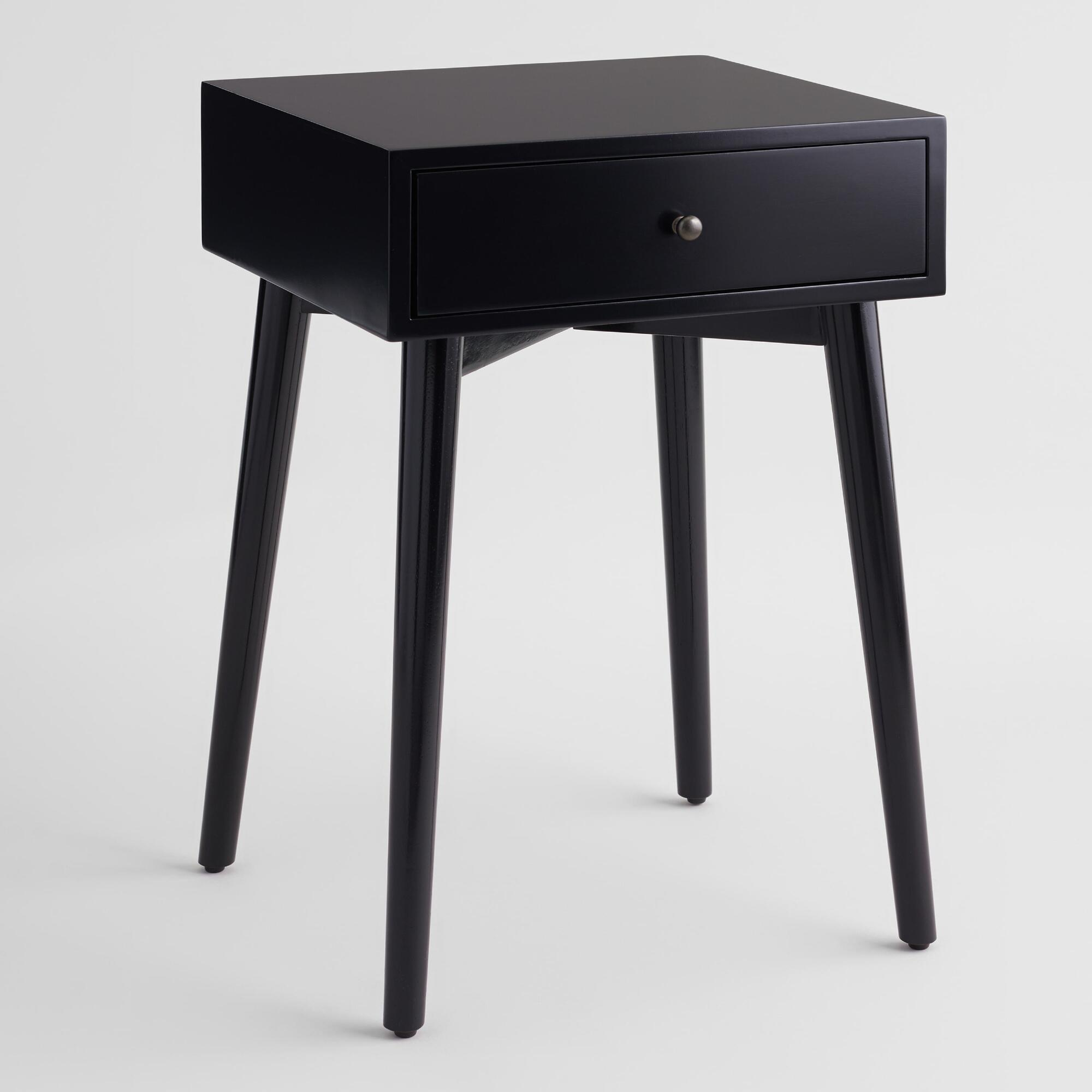 black mid century nightstand world market
