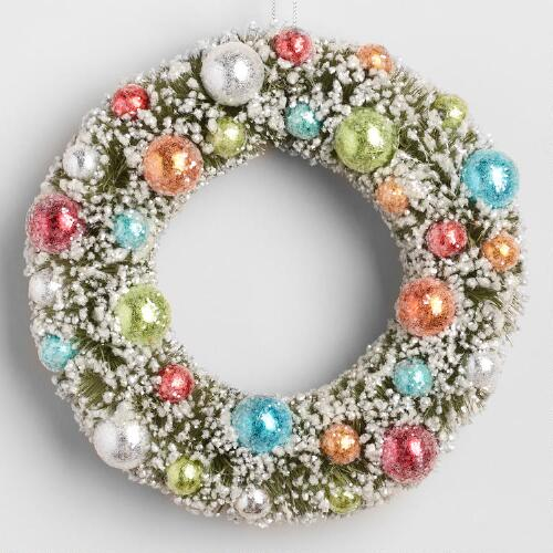 Retro Bottlebrush  Wreath