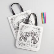 Dia de los Muertos Color Your Own Tote Set of 2