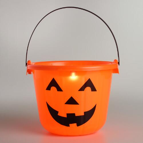 Boo Bucket Light-Up Halloween Pail Set of 2