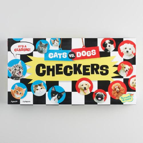Cats vs. Dogs Checkers