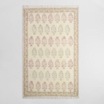5'x8' Block Print Cotton Yesenia Area Rug