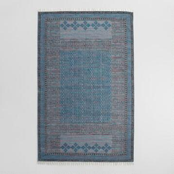 5'x8' Block Print Cotton Soumil Area Rug