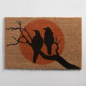 Crows and Moon Coir Doormat