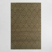 5'x8' Yellow and Gray Diamond Flatweave Wool Galen Area Rug