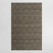 5'x8' Gray Tonal Diamond Flatweave Wool Galen Area Rug