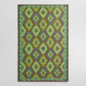 4'x6' Green Diamond Urban Indoor Outdoor Floor Mat