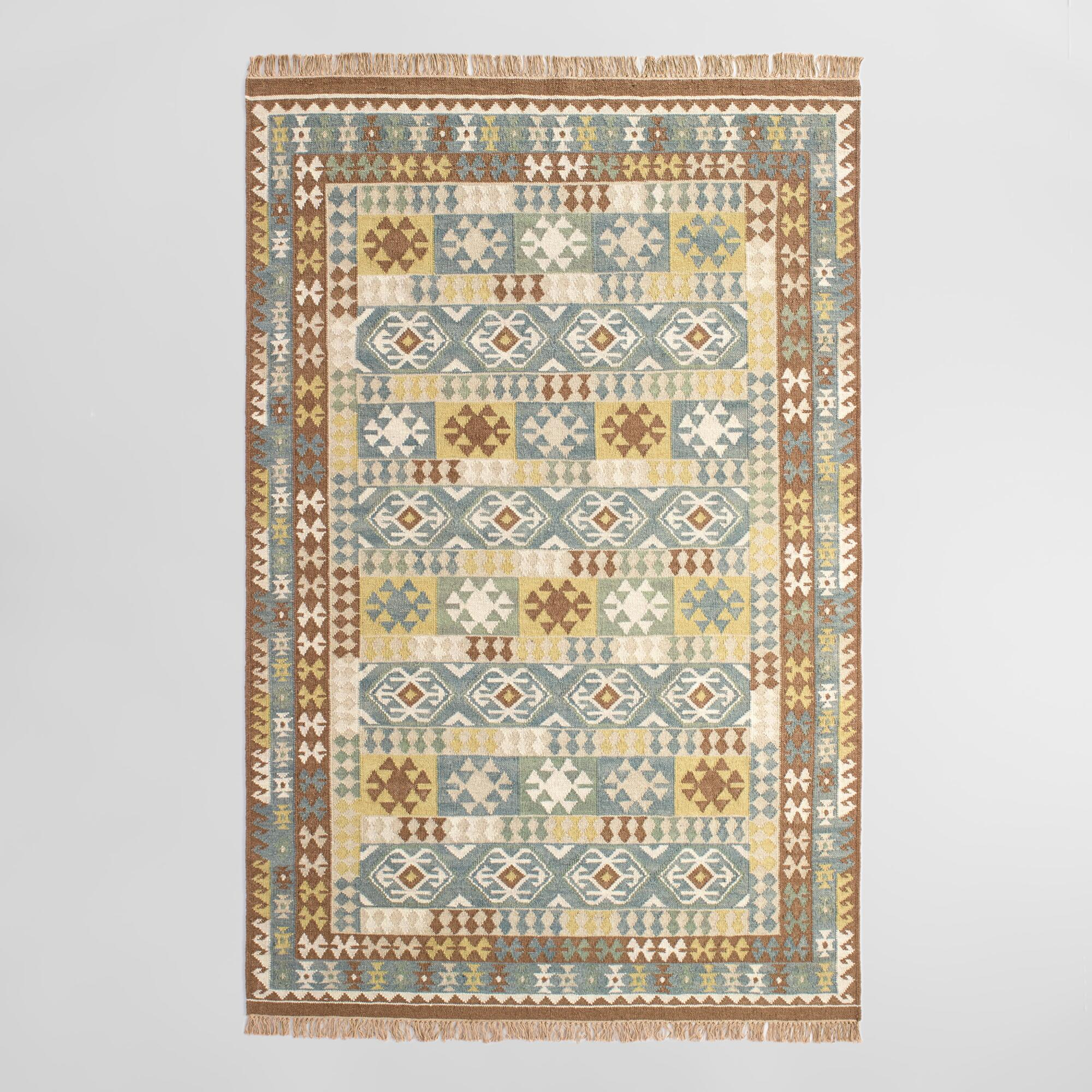 Brown Flatweave Wool Sumin Area Rug World Market
