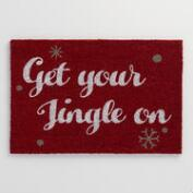 Get Your Jingle On Coir Doormat