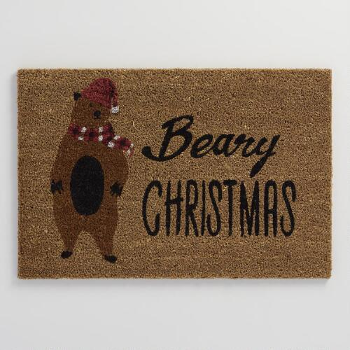 Beary Christmas Coir Doormat