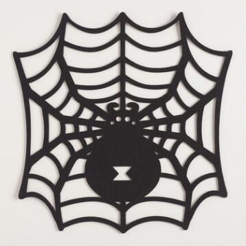 Spider Cutout Felt Placemats Set of 4