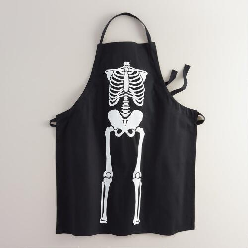 Black Skeleton Apron