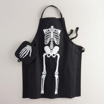 Black Skeleton Kitchen Linen Collection