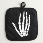 Black Skeleton Potholders Set of 2