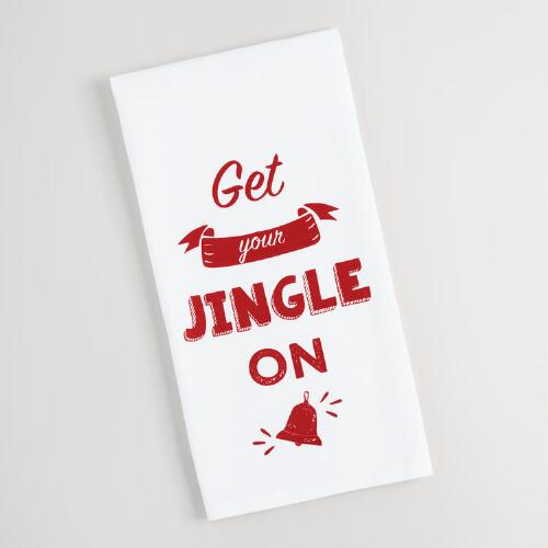 Get Your Jingle On Kitchen Towel