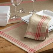 Red Stripe Table Linen Collection