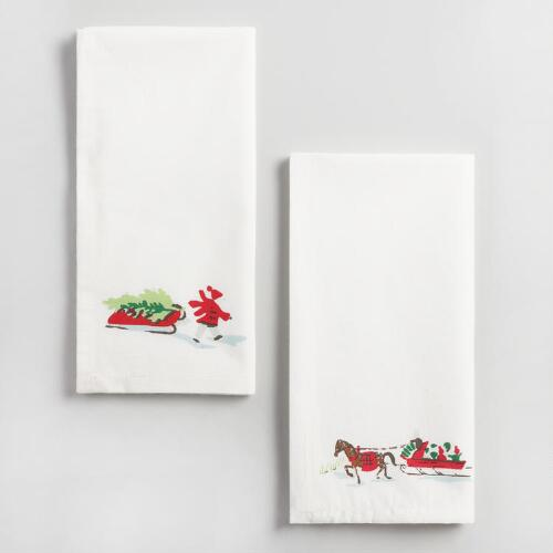Winter Scene Napkins Set of 4