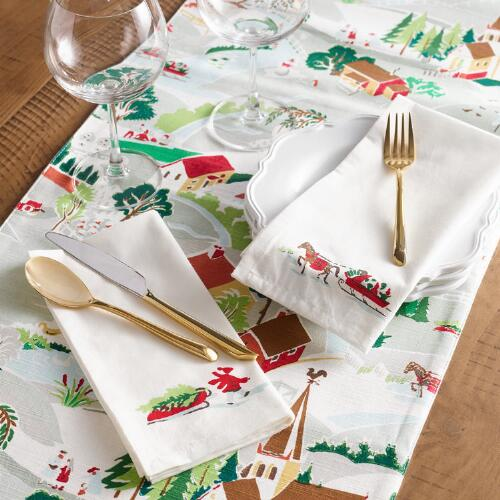 Winter Scene Table Linen Collection