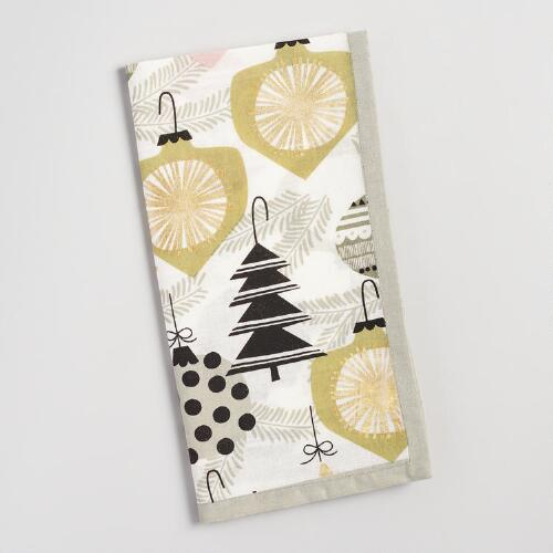 Golden Stars Napkins Set of 4
