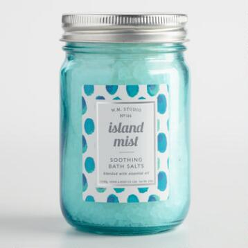 Island Mist Mason Jar Bath Salts