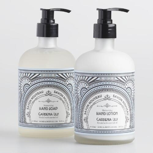 Art Deco Gardenia and Lily Hand Care Collection