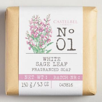 Castelbel White Sage Leaf Bar Soap