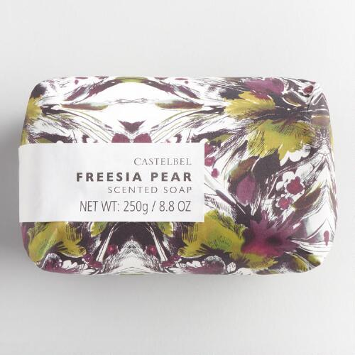 Castelbel Watercolor Floral Freesia Pear Bar Soap
