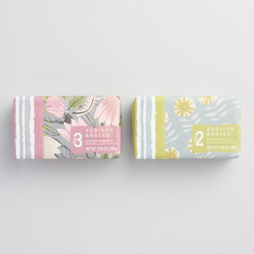 A&G Floral Print Bar Soap Collection