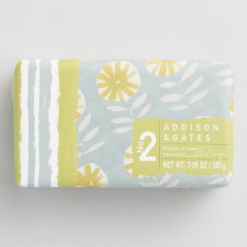 A&G Floral Print Linen Bar Soaps Set of 2